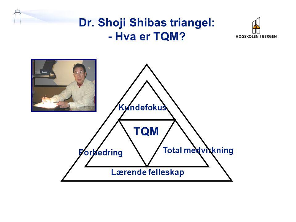 Dr. Shoji Shibas triangel: - Hva er TQM.