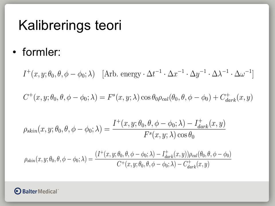 Kalibrerings teori formler: