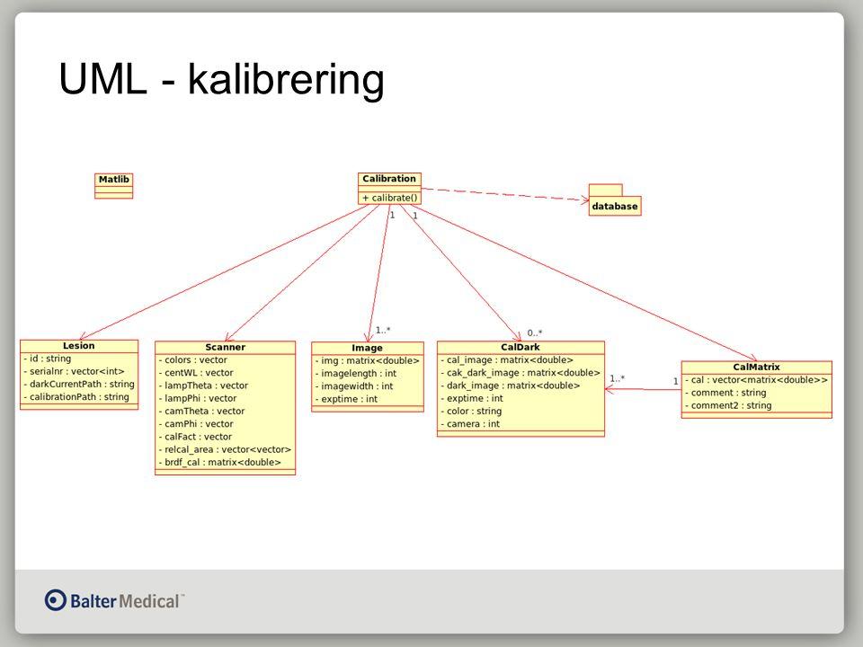 UML - kalibrering