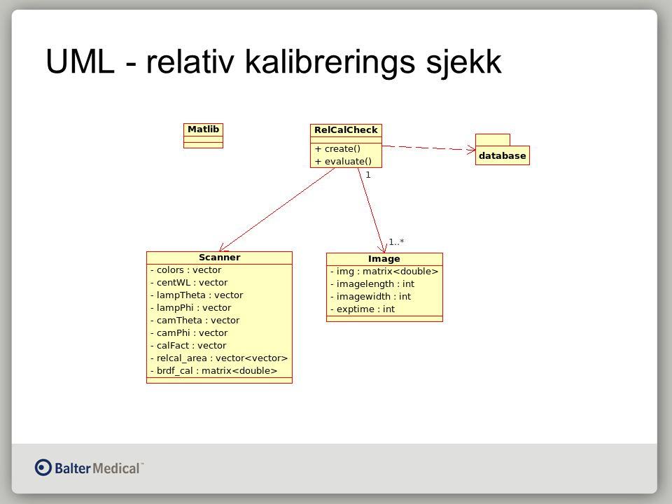 UML - relativ kalibrerings sjekk