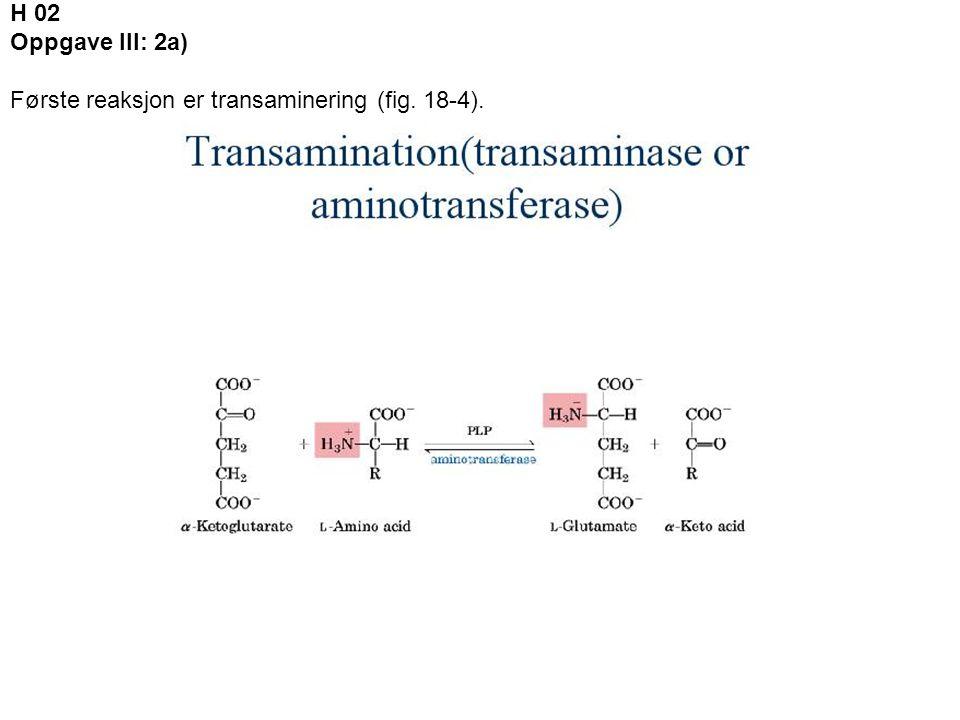 2b) Kofaktoren som deltar er PLP.PLP er en intermediat bærer av aminogruppen.