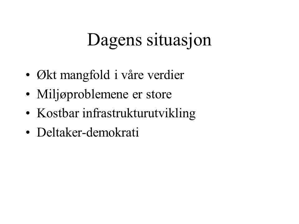 Utfordringer i norsk planlegging Bytte ut synoptisk planlegging med noe annet …..