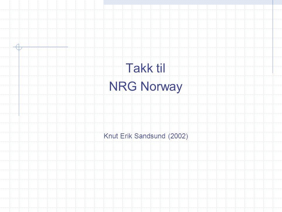 Takk til NRG Norway Knut Erik Sandsund (2002)