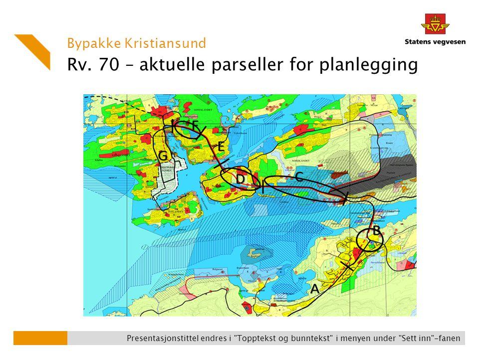 Bypakke Kristiansund Presentasjonstittel endres i Topptekst og bunntekst i menyen under Sett inn -fanen Rv.