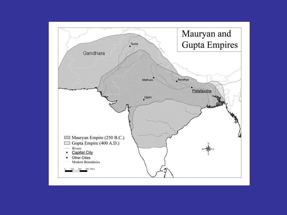 Gupta-riket, ca. 300 v.t. Pataliputra Gandhara