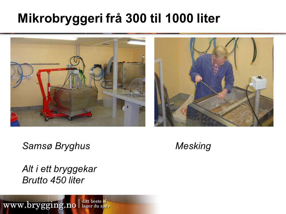 Mikrobryggeri frå 300 til 1000 liter Samsø Bryghus Alt i ett bryggekar Brutto 450 liter Mesking