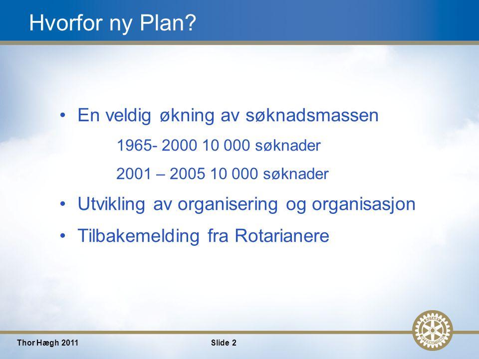 2 Thor Hægh 2011Slide 2 Hvorfor ny Plan.