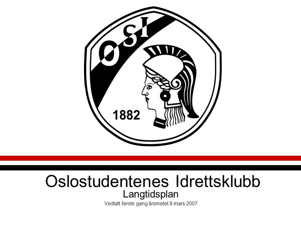 Oslostudentenes Idrettsklubb Langtidsplan Vedtatt første gang årsmøtet 8.mars 2007
