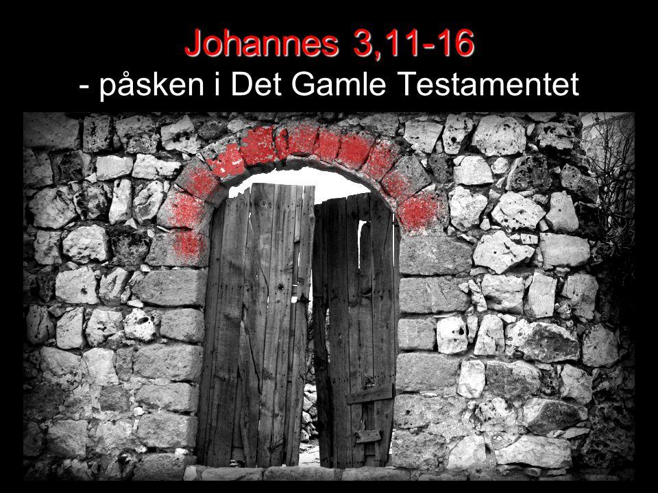 Johannes 3,11-16 Johannes 3,11-16 - påsken i Det Gamle Testamentet