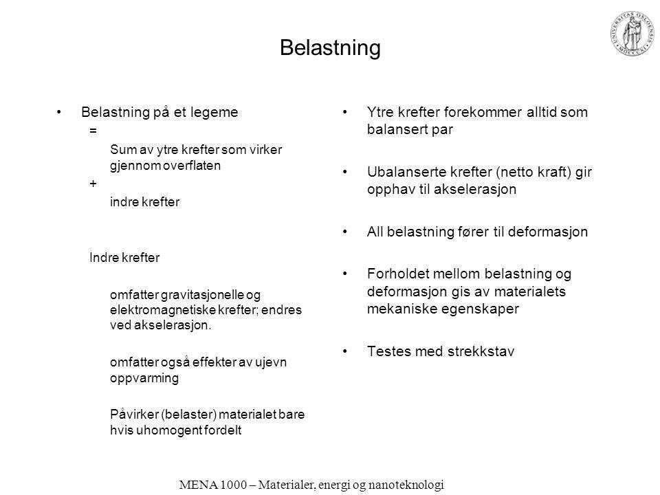 MENA 1000 – Materialer, energi og nanoteknologi Støpelegeringer Høyere legeringsinnhold Hardere, sprøere Lavere smeltepunkt Figurer: A.