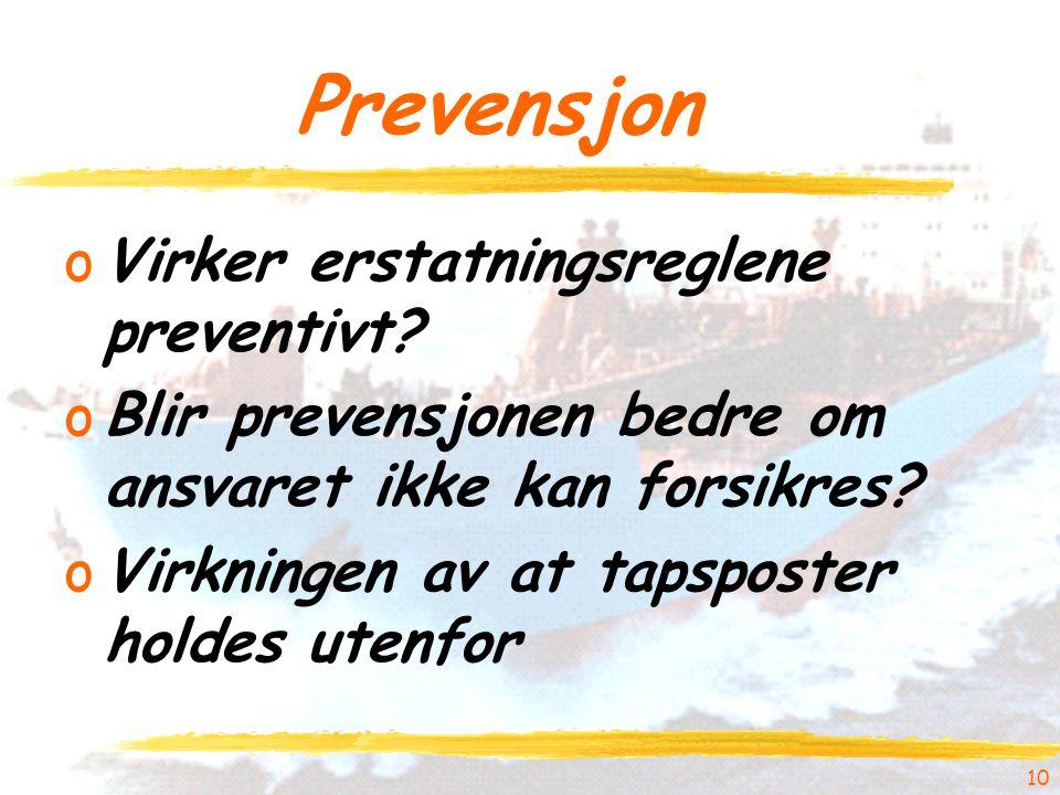 10 Prevensjon oVirker erstatningsreglene preventivt.
