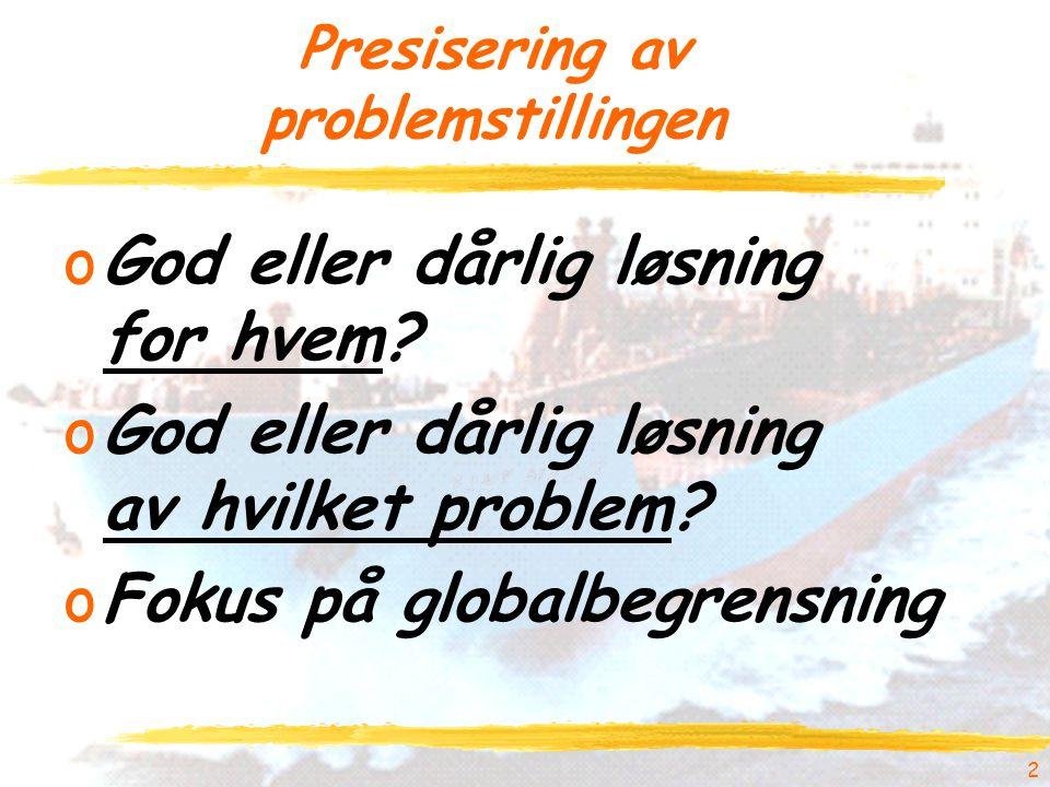 2 Presisering av problemstillingen oGod eller dårlig løsning for hvem.