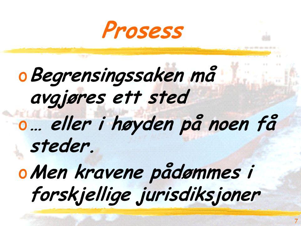 7 Prosess oBegrensingssaken må avgjøres ett sted o… eller i høyden på noen få steder.
