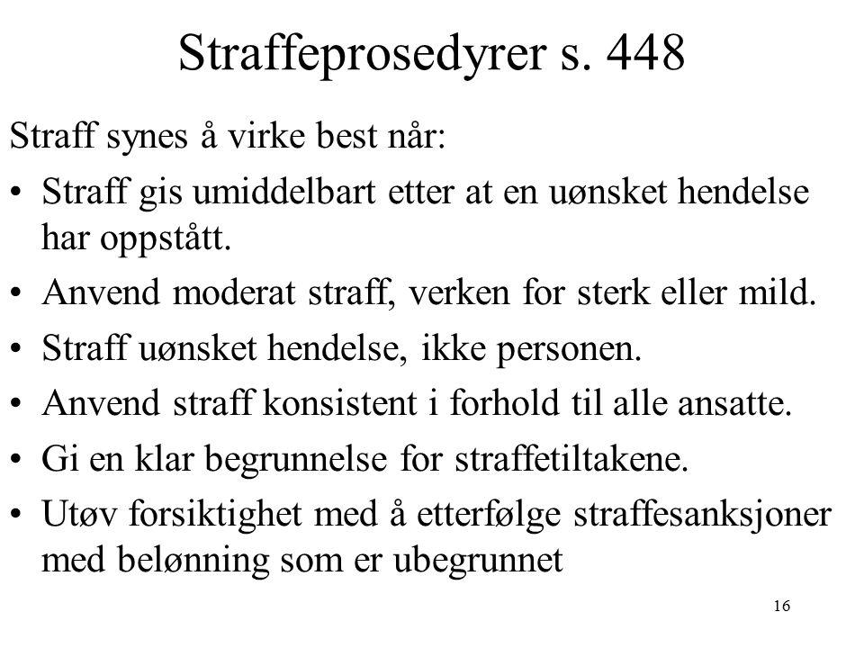 16 Straffeprosedyrer s.