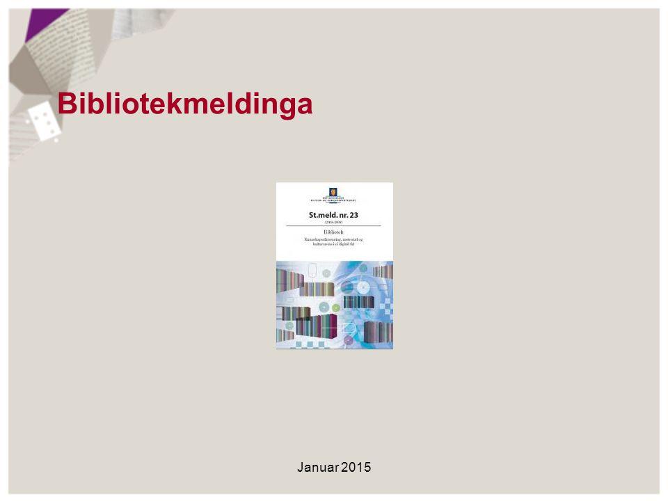 Bibliotekmeldinga Stortinget behandlet bibliotekmeldinga i juni 2009.