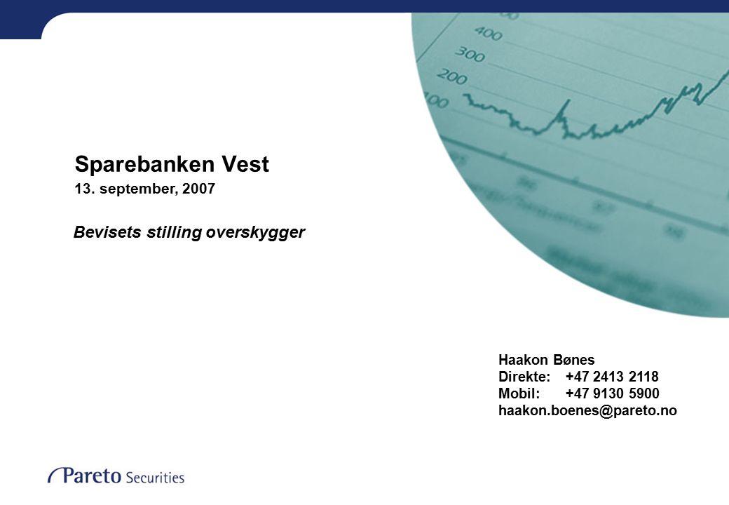 Sparebanken Vest 13.