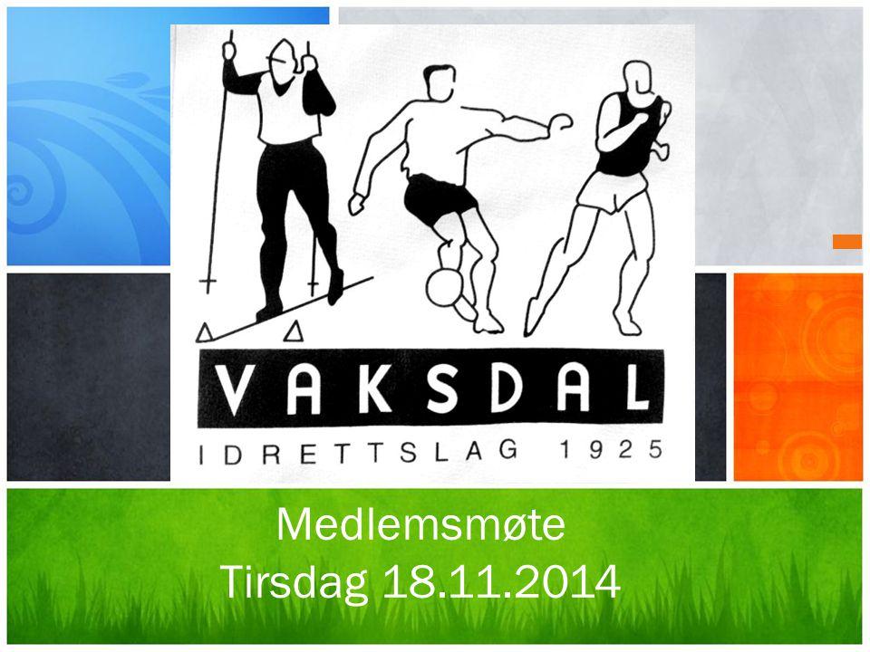 Medlemsmøte Tirsdag 18.11.2014