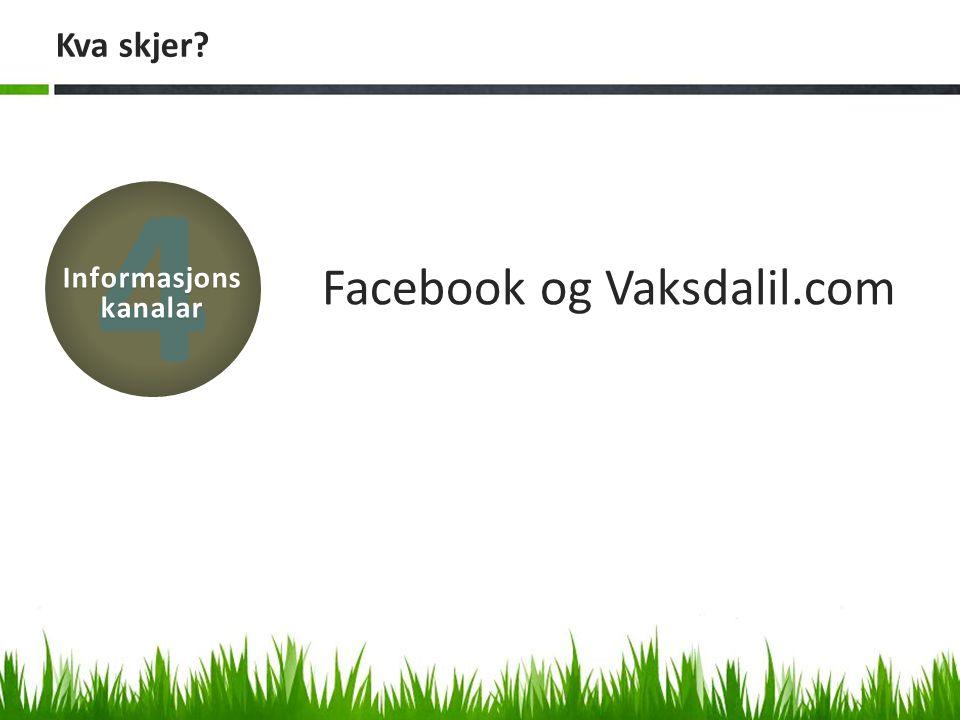 Kva skjer? Facebook og Vaksdalil.com 4 Informasjons kanalar