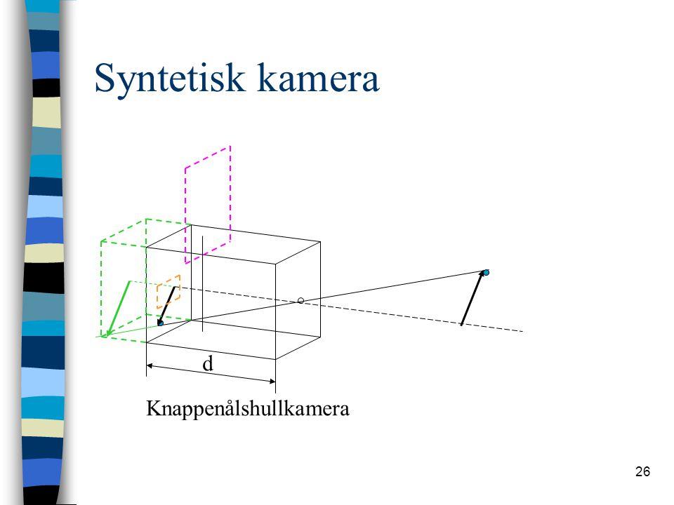 26 Syntetisk kamera Knappenålshullkamera d