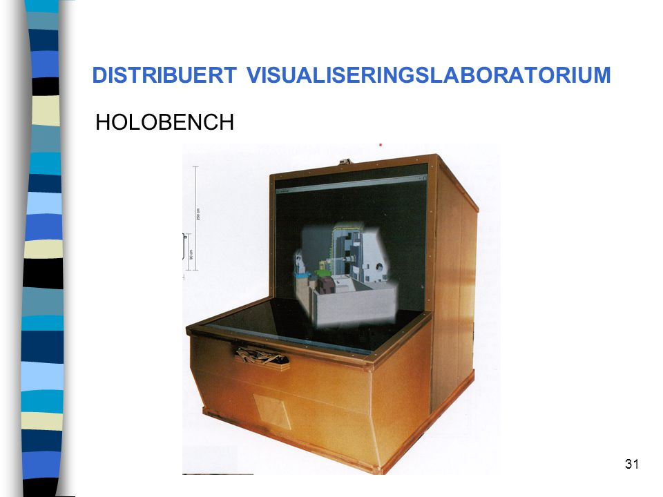 31 DISTRIBUERT VISUALISERINGSLABORATORIUM HOLOBENCH