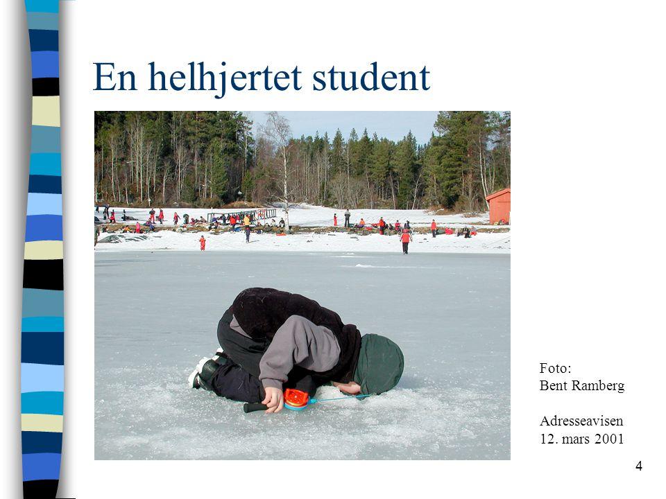 4 En helhjertet student Foto: Bent Ramberg Adresseavisen 12. mars 2001