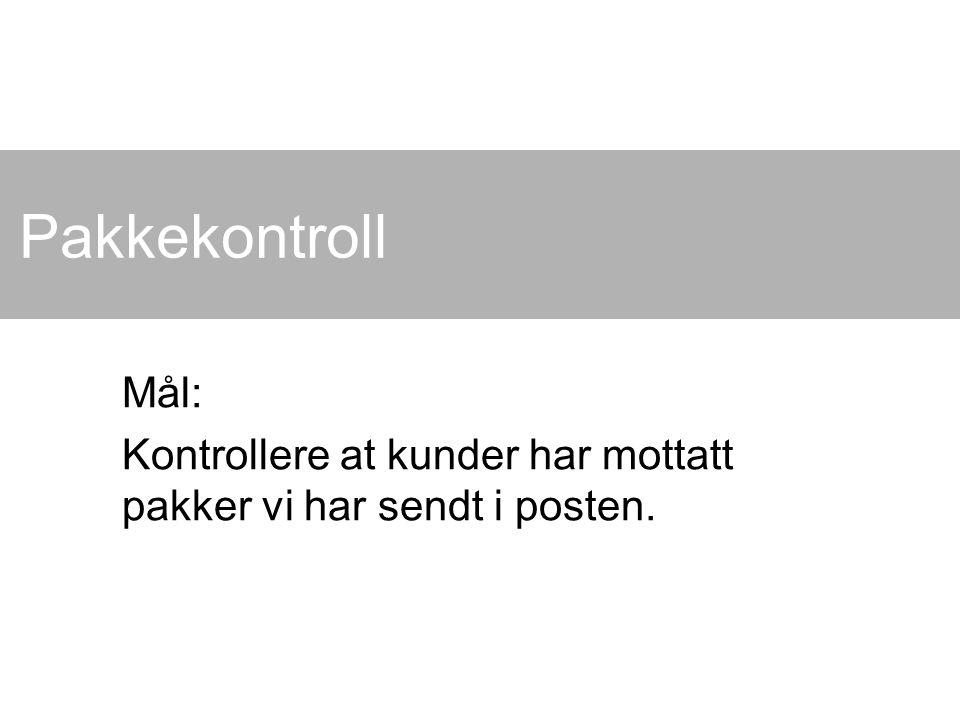 Kai A.Olsen, BIBSYS, 30.03.2015 2 Utgangspunkt En nettbutikk sender varer med posten.
