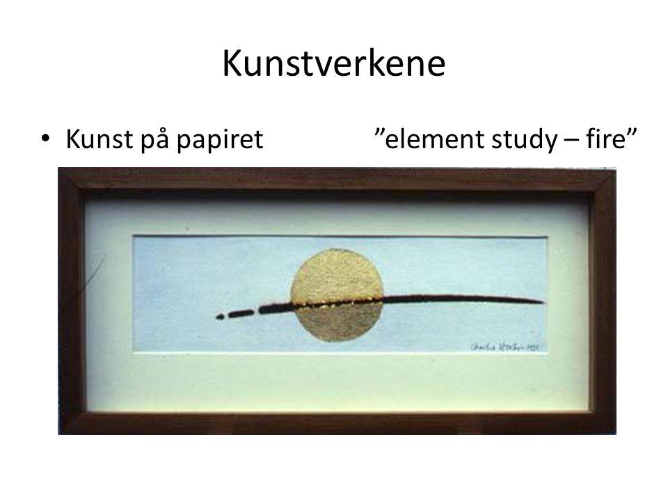 Kunstverkene Kunst på papiret element study – fire