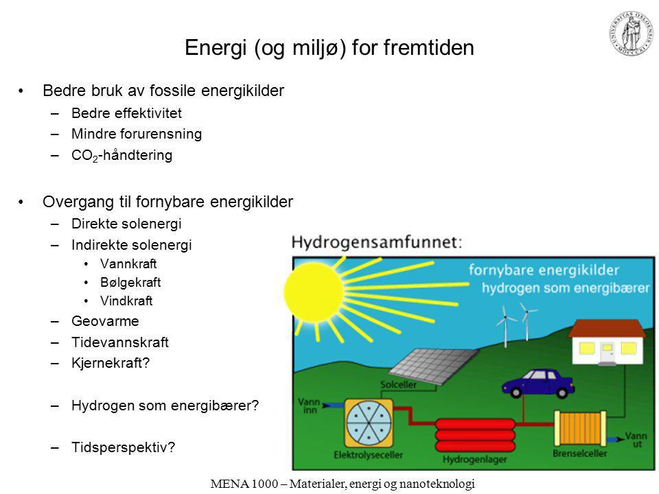 Moderne samfunn og velferd krever energi. Hvor kommer den fra?
