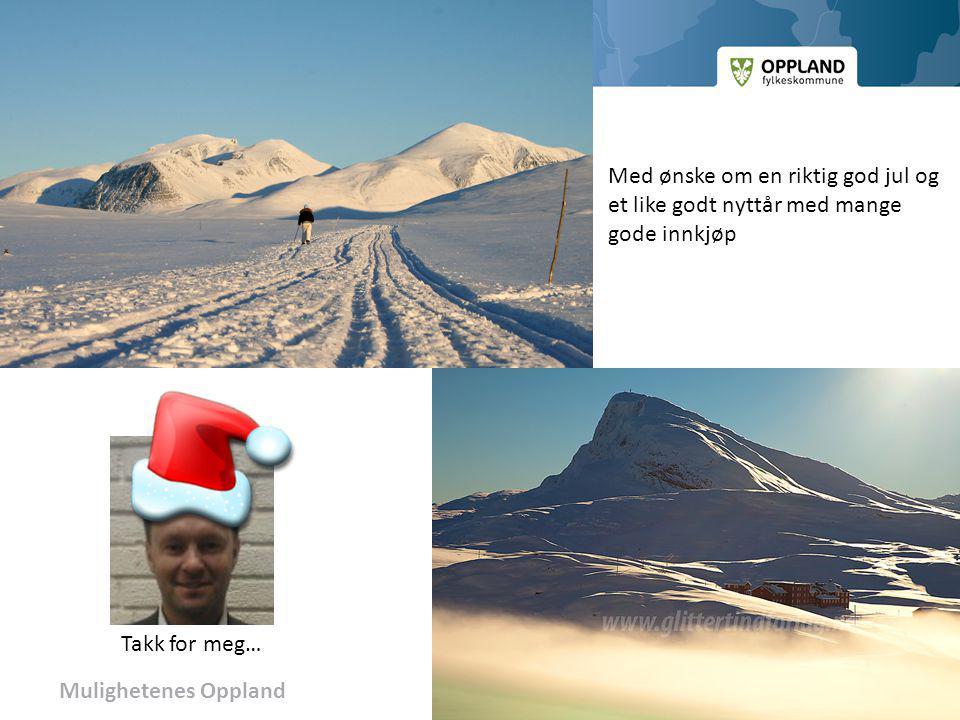 Mulighetenes Oppland Med ønske om en riktig god jul og et like godt nyttår med mange gode innkjøp Takk for meg…
