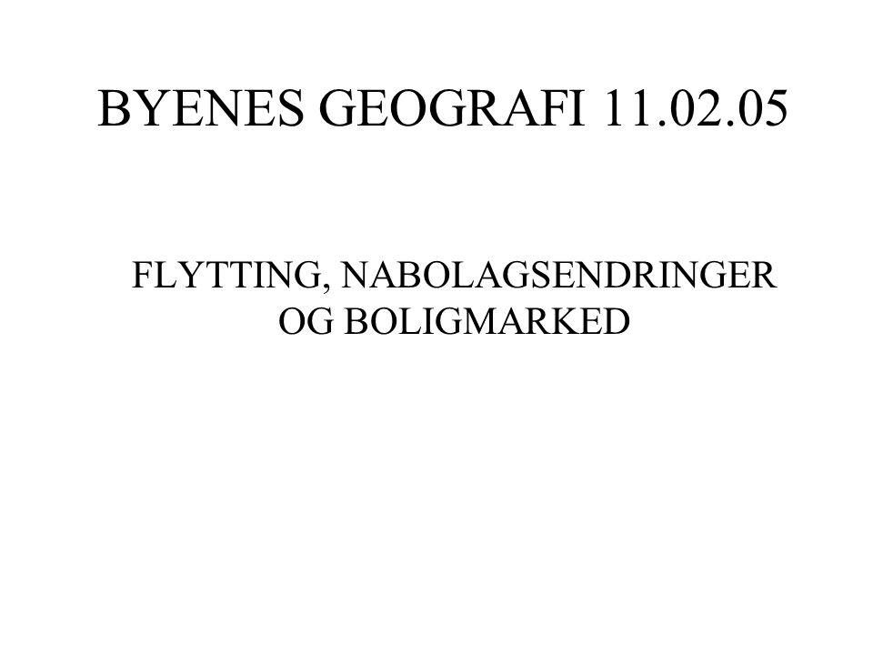 BYENES GEOGRAFI 11.02.05 FLYTTING, NABOLAGSENDRINGER OG BOLIGMARKED