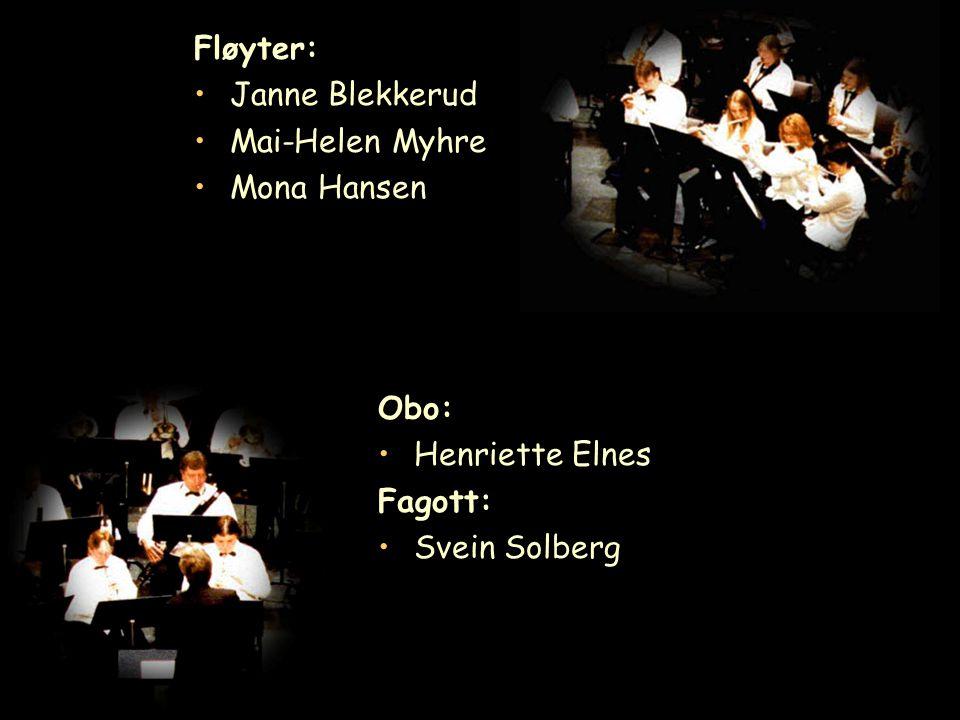 Fløyter: Janne Blekkerud Mai-Helen Myhre Mona Hansen Obo: Henriette Elnes Fagott: Svein Solberg