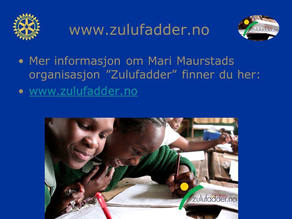 www.zulufadder.no Mer informasjon om Mari Maurstads organisasjon Zulufadder finner du her: www.zulufadder.no