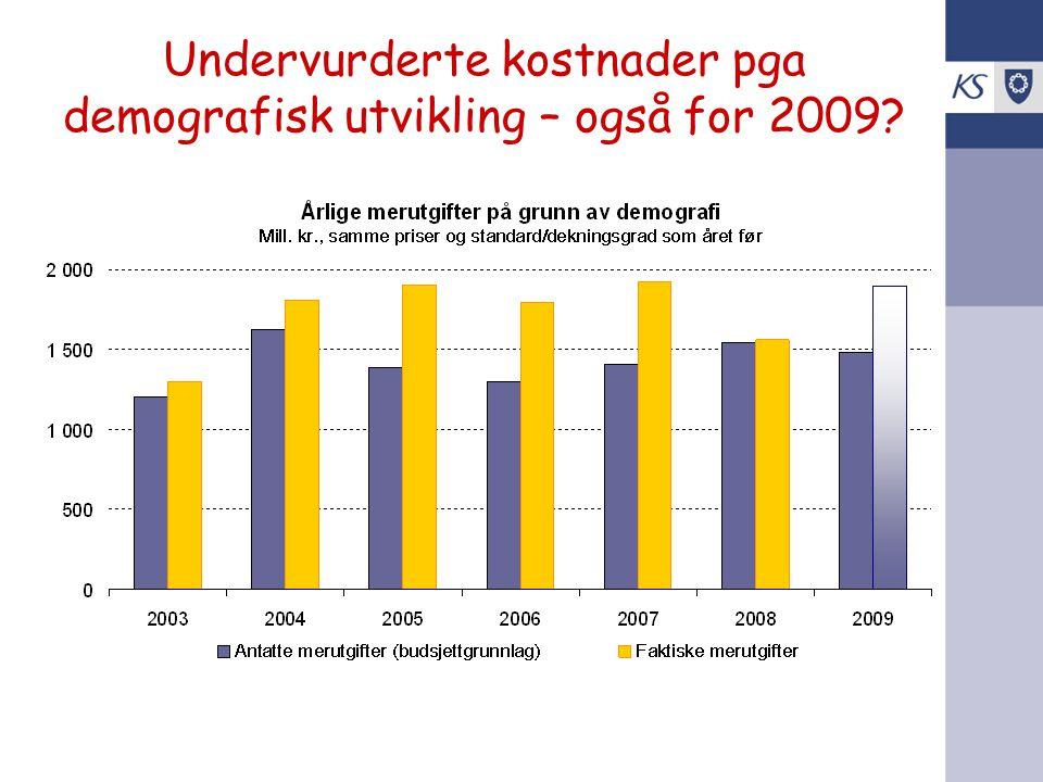 Undervurderte kostnader pga demografisk utvikling – også for 2009?