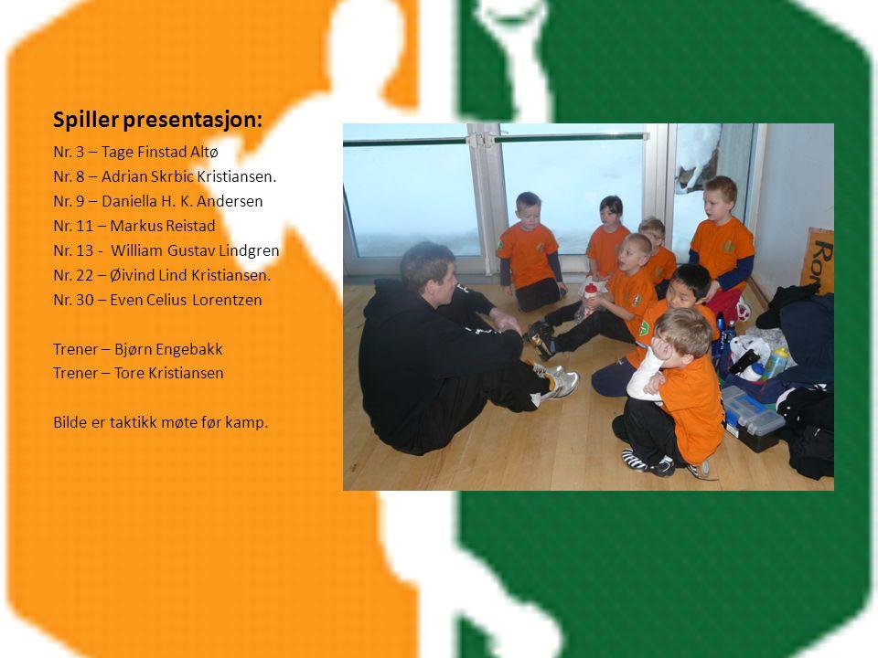 Spiller presentasjon: Nr. 3 – Tage Finstad Altø Nr.