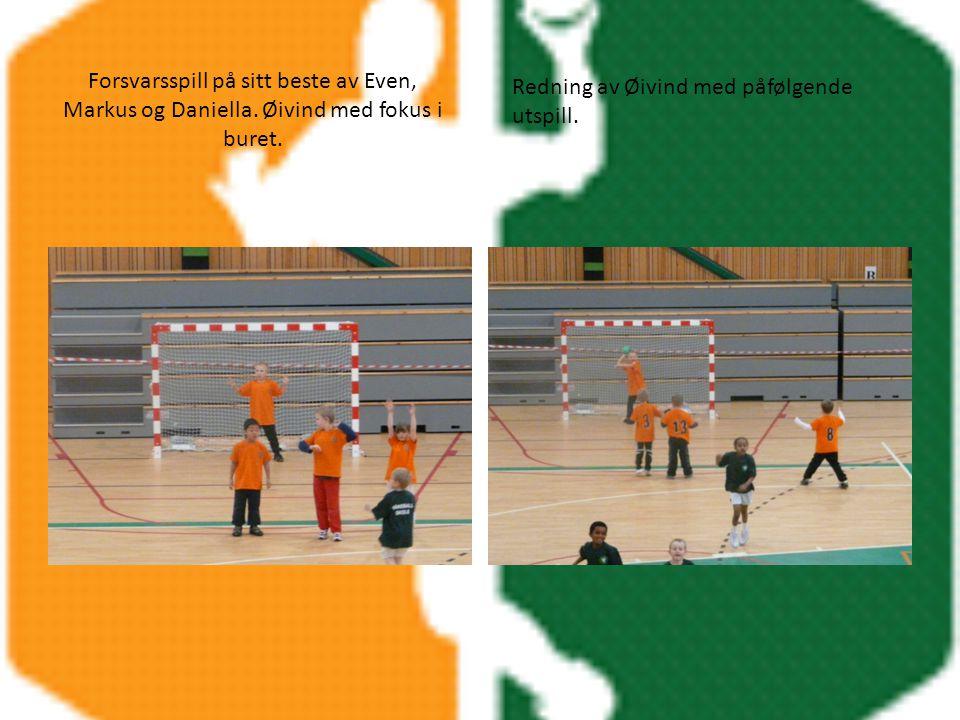 Forsvarsspill på sitt beste av Even, Markus og Daniella.