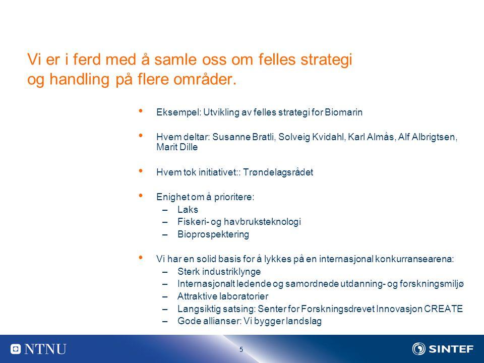 5 Vi er i ferd med å samle oss om felles strategi og handling på flere områder.