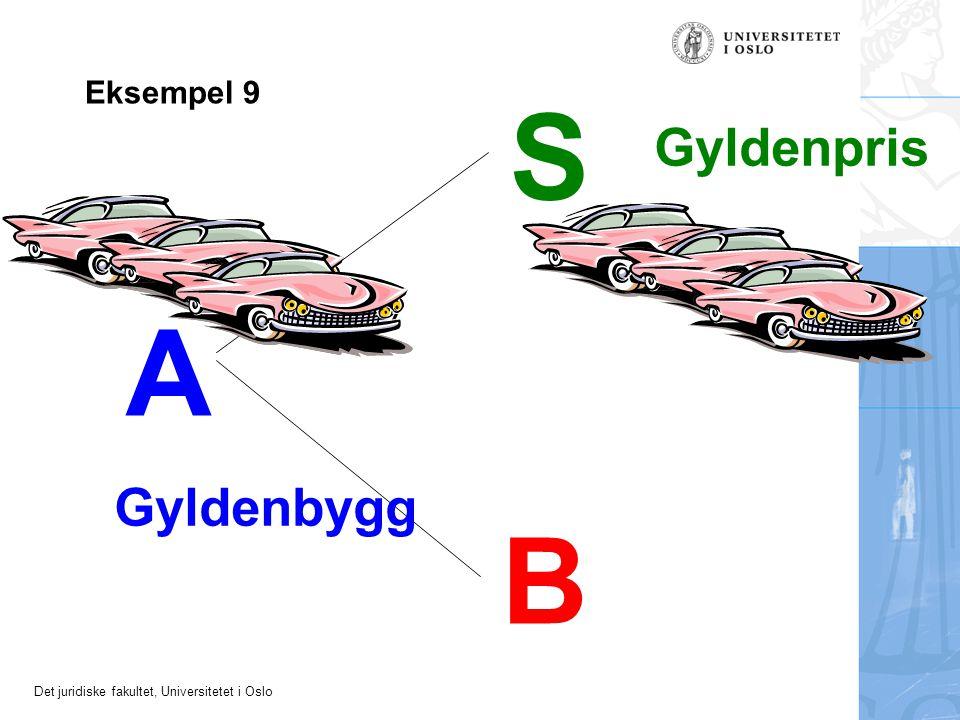 Det juridiske fakultet, Universitetet i Oslo A S B Gyldenbygg Gyldenpris Eksempel 9