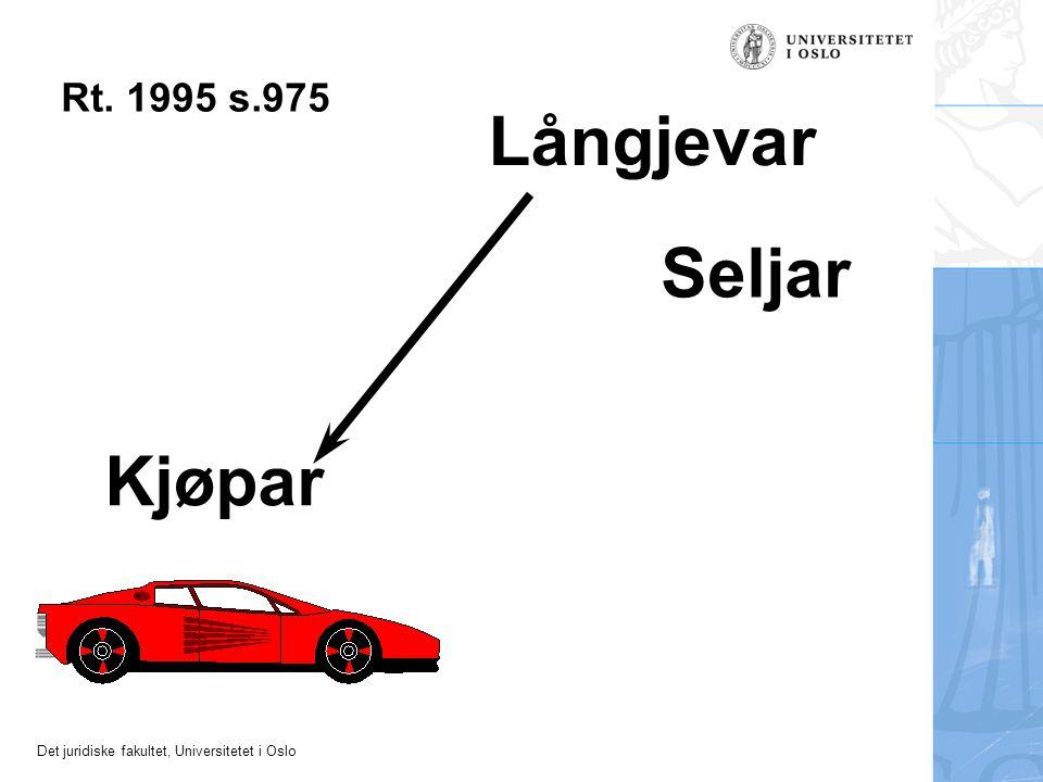 Det juridiske fakultet, Universitetet i Oslo Seljar Kjøpar Långjevar Rt. 1995 s.975
