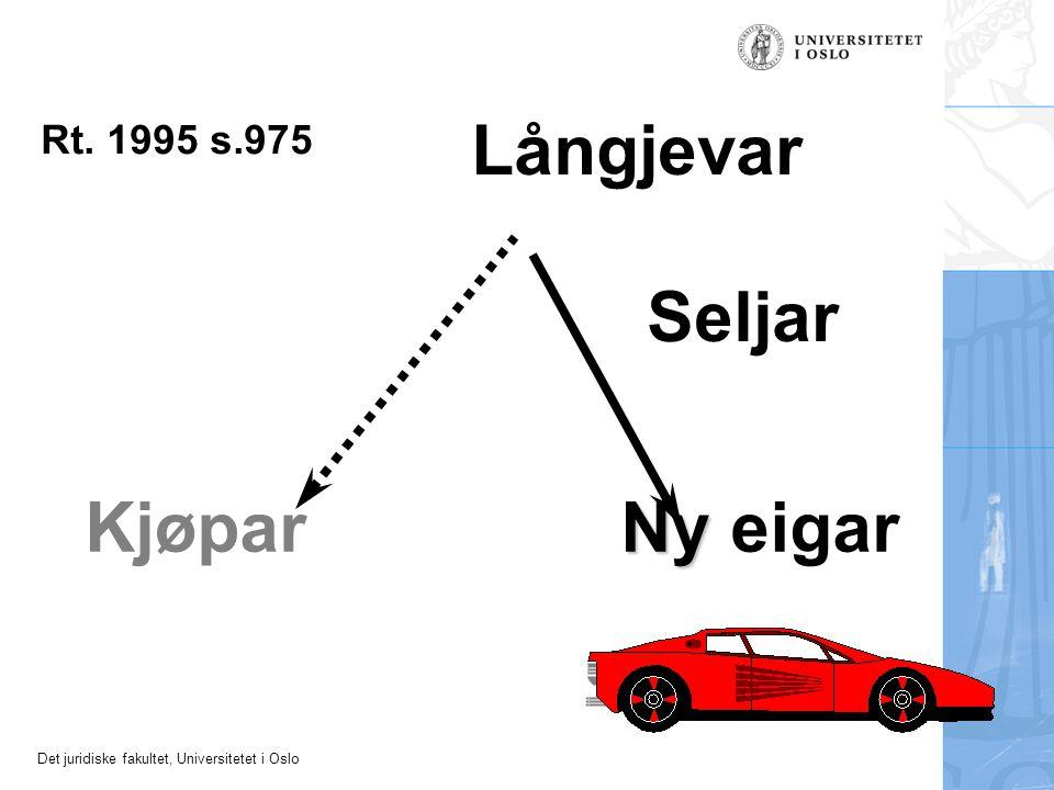 Det juridiske fakultet, Universitetet i Oslo Seljar Kjøpar Långjevar Ny Ny eigar Rt. 1995 s.975