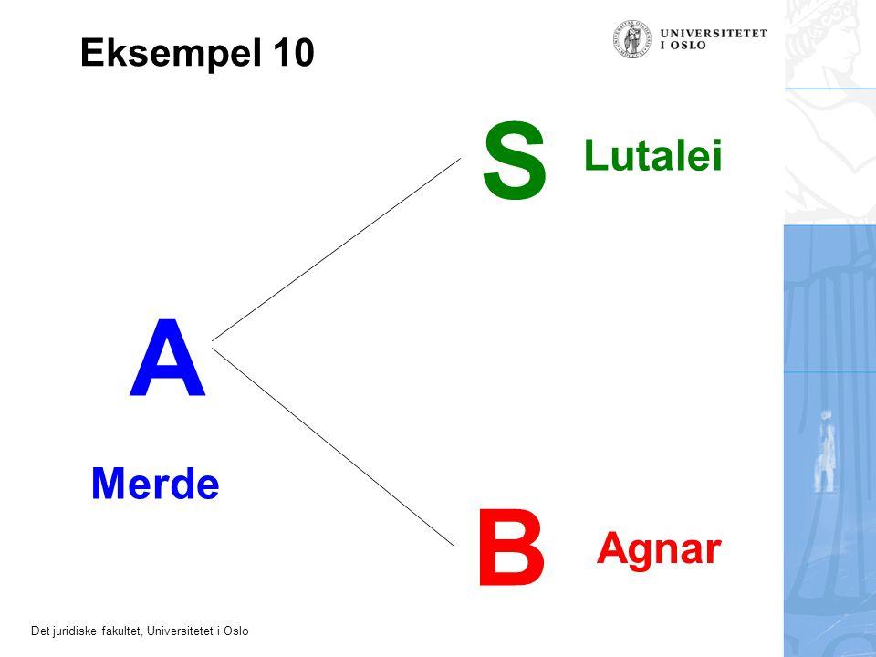 Det juridiske fakultet, Universitetet i Oslo A Merde B Agnar Eksempel 10 S Lutalei