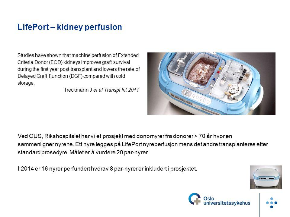 de første cDCD med normotherm ECMO i Scandinavia I 2014 gjennomførte OUS 2 organdonasjoner med bruk av Ekstra Corporal Membran Oksygenator (ECMO) hos pasienter som døde av hjerte- og respirasjonsstans etter at livsforlengende behandling ble avsluttet.