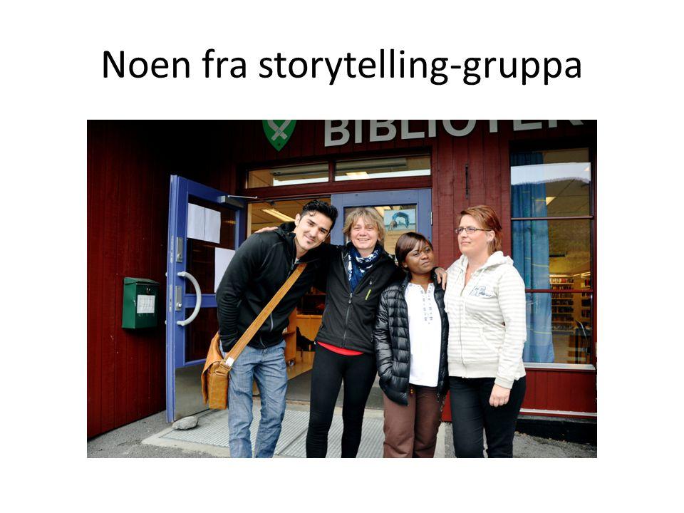 Noen fra storytelling-gruppa
