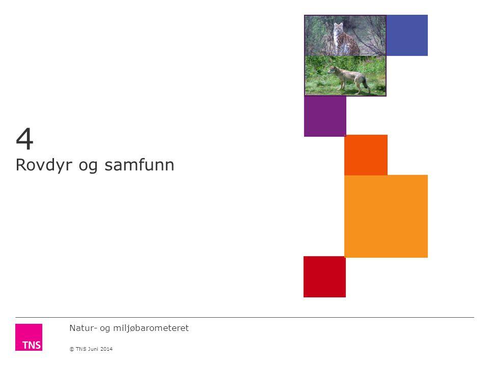 Natur- og miljøbarometeret © TNS Juni 2014 4 Rovdyr og samfunn