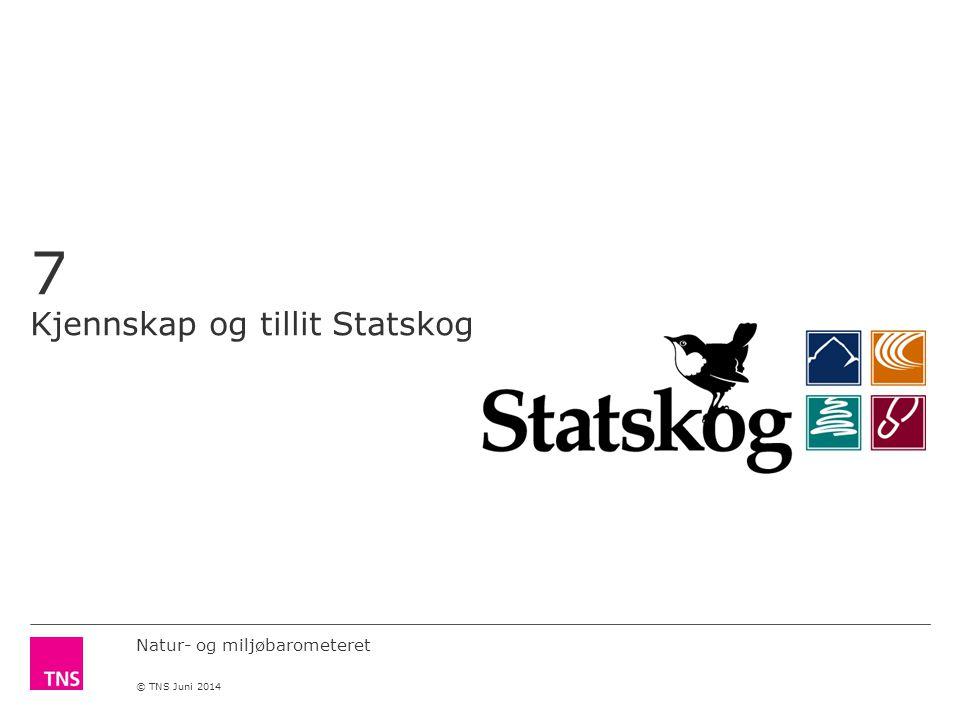Natur- og miljøbarometeret © TNS Juni 2014 7 Kjennskap og tillit Statskog