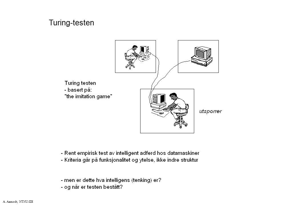 A. Aamodt, NTNU-IDI Turing-testen