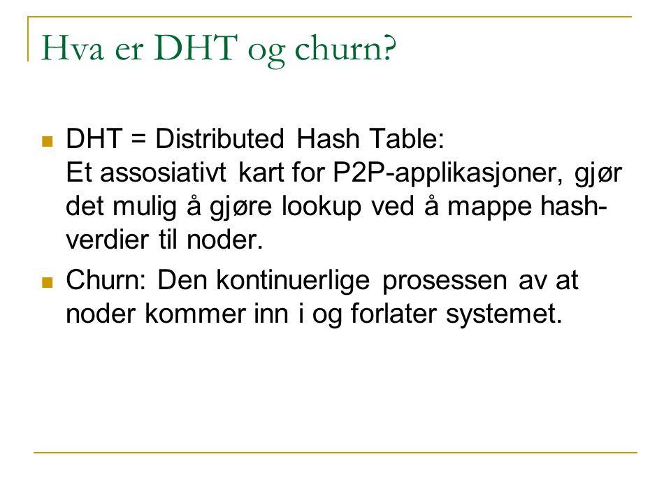 Hva er DHT og churn.