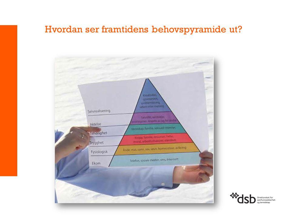 Hvordan ser framtidens behovspyramide ut?