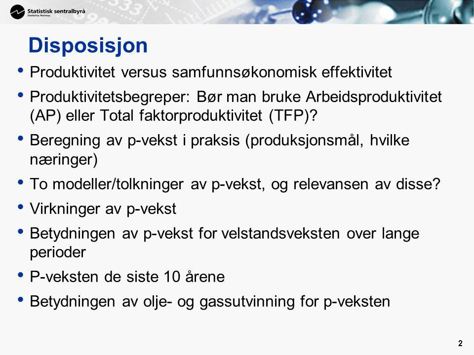P-vekst: To modeller/tolkninger 1.