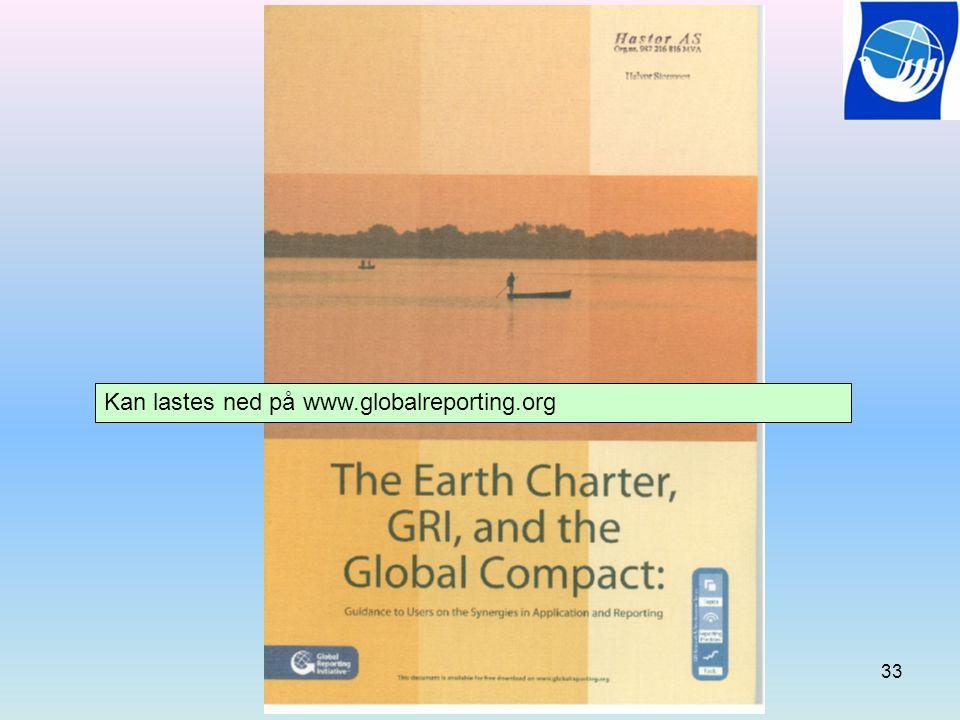 Kan lastes ned på www.globalreporting.org 33