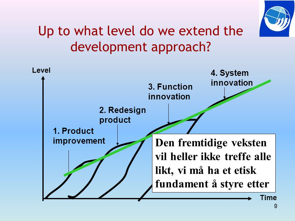 Up to what level do we extend the development approach.